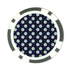 Daisy Dots Navy Blue Poker Chip Card Guard (10 Pack)