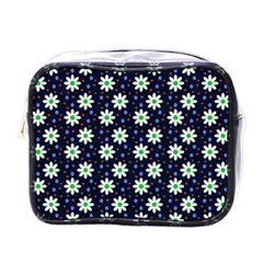 Daisy Dots Navy Blue Mini Toiletries Bags