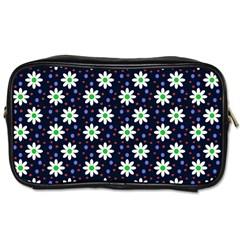 Daisy Dots Navy Blue Toiletries Bags