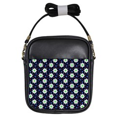 Daisy Dots Navy Blue Girls Sling Bags