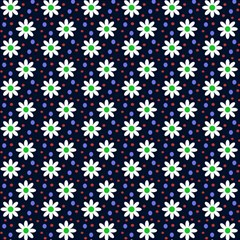 Daisy Dots Navy Blue Magic Photo Cubes