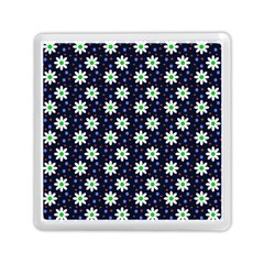 Daisy Dots Navy Blue Memory Card Reader (square)