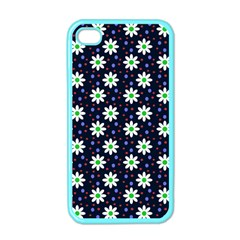 Daisy Dots Navy Blue Apple Iphone 4 Case (color)