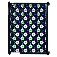 Daisy Dots Navy Blue Apple Ipad 2 Case (black)