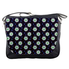 Daisy Dots Navy Blue Messenger Bags