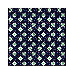 Daisy Dots Navy Blue Acrylic Tangram Puzzle (6  X 6 )