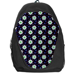 Daisy Dots Navy Blue Backpack Bag