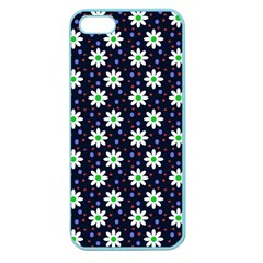 Daisy Dots Navy Blue Apple Seamless Iphone 5 Case (color)
