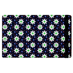 Daisy Dots Navy Blue Apple Ipad 3/4 Flip Case
