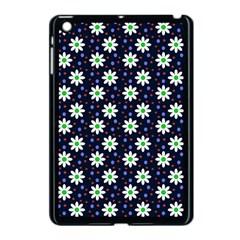 Daisy Dots Navy Blue Apple Ipad Mini Case (black)