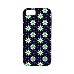 Daisy Dots Navy Blue Apple Iphone 5 Classic Hardshell Case (pc+silicone)