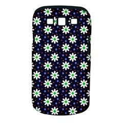Daisy Dots Navy Blue Samsung Galaxy S Iii Classic Hardshell Case (pc+silicone)