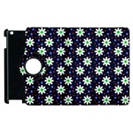 Daisy Dots Navy Blue Apple iPad 3/4 Flip 360 Case Front