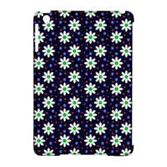 Daisy Dots Navy Blue Apple Ipad Mini Hardshell Case (compatible With Smart Cover)