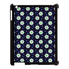 Daisy Dots Navy Blue Apple Ipad 3/4 Case (black)