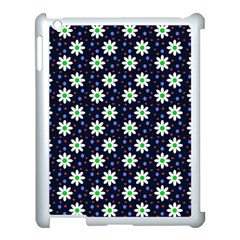 Daisy Dots Navy Blue Apple Ipad 3/4 Case (white)