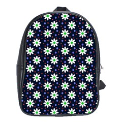 Daisy Dots Navy Blue School Bag (xl)