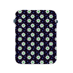 Daisy Dots Navy Blue Apple Ipad 2/3/4 Protective Soft Cases