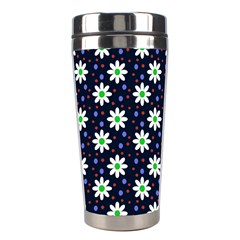 Daisy Dots Navy Blue Stainless Steel Travel Tumblers