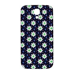 Daisy Dots Navy Blue Samsung Galaxy S4 I9500/i9505  Hardshell Back Case