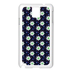 Daisy Dots Navy Blue Samsung Galaxy Note 3 N9005 Case (white)