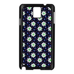 Daisy Dots Navy Blue Samsung Galaxy Note 3 N9005 Case (black)