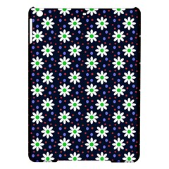 Daisy Dots Navy Blue Ipad Air Hardshell Cases