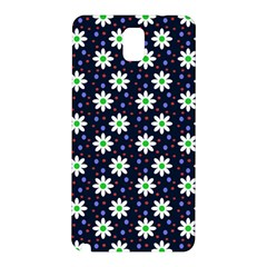 Daisy Dots Navy Blue Samsung Galaxy Note 3 N9005 Hardshell Back Case