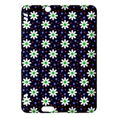 Daisy Dots Navy Blue Kindle Fire Hdx Hardshell Case