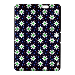 Daisy Dots Navy Blue Kindle Fire Hdx 8 9  Hardshell Case
