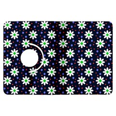 Daisy Dots Navy Blue Kindle Fire Hdx Flip 360 Case