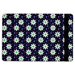 Daisy Dots Navy Blue Ipad Air Flip