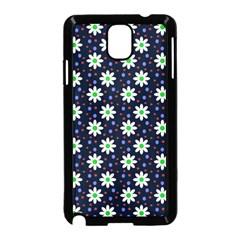 Daisy Dots Navy Blue Samsung Galaxy Note 3 Neo Hardshell Case (black)