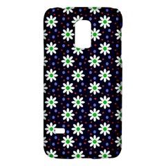 Daisy Dots Navy Blue Galaxy S5 Mini