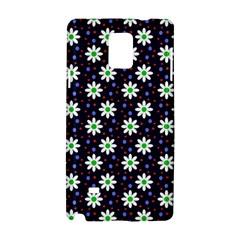 Daisy Dots Navy Blue Samsung Galaxy Note 4 Hardshell Case