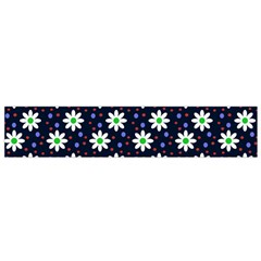Daisy Dots Navy Blue Small Flano Scarf