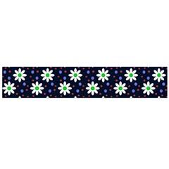 Daisy Dots Navy Blue Large Flano Scarf