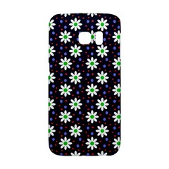 Daisy Dots Navy Blue Galaxy S6 Edge