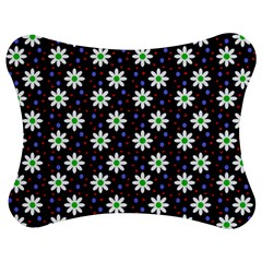 Daisy Dots Navy Blue Jigsaw Puzzle Photo Stand (bow)
