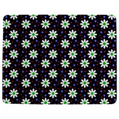 Daisy Dots Navy Blue Jigsaw Puzzle Photo Stand (rectangular)