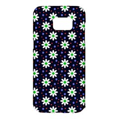 Daisy Dots Navy Blue Samsung Galaxy S7 Edge Hardshell Case
