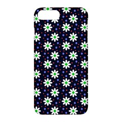 Daisy Dots Navy Blue Apple Iphone 7 Plus Hardshell Case