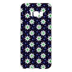 Daisy Dots Navy Blue Samsung Galaxy S8 Plus Hardshell Case