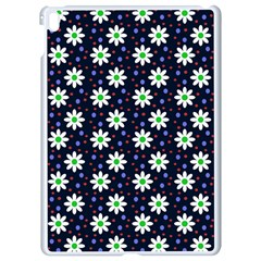 Daisy Dots Navy Blue Apple Ipad Pro 9 7   White Seamless Case