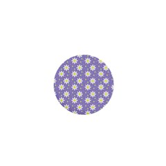 Daisy Dots Violet 1  Mini Magnets
