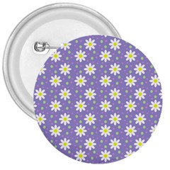 Daisy Dots Violet 3  Buttons