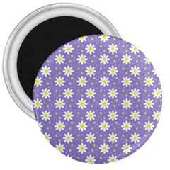 Daisy Dots Violet 3  Magnets