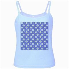 Daisy Dots Violet Baby Blue Spaghetti Tank
