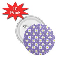 Daisy Dots Violet 1 75  Buttons (10 Pack)