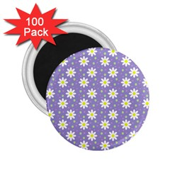 Daisy Dots Violet 2 25  Magnets (100 Pack)
